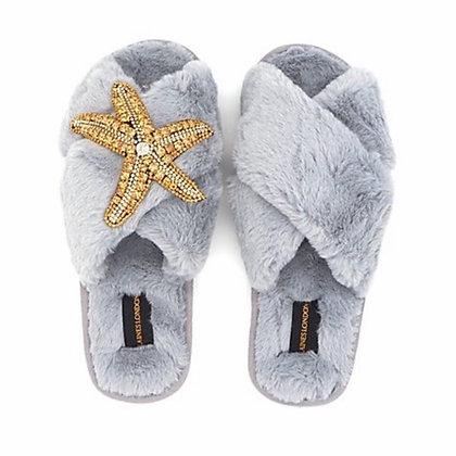 LAINES Grey Starfish Slipper