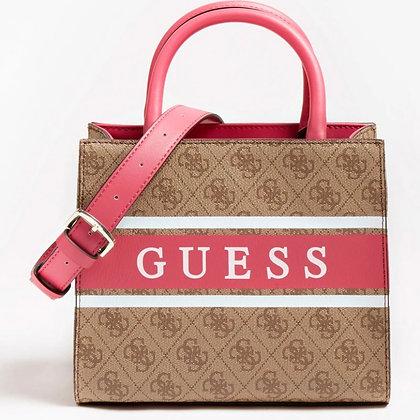 GUESS Pink/Brown 4G Mini Shopper