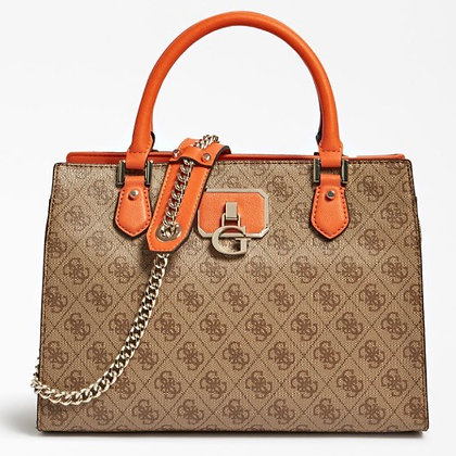 Guess Brown/Orange 4G Bag