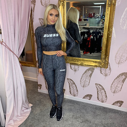 GUESS Grey Python Legging Set