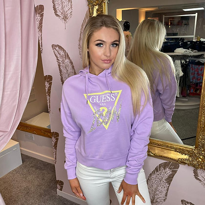 Guess Lilac  Icon Hoodie
