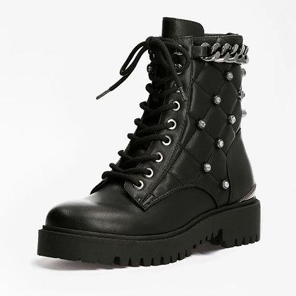 Guess Black Stud Combat  Boot