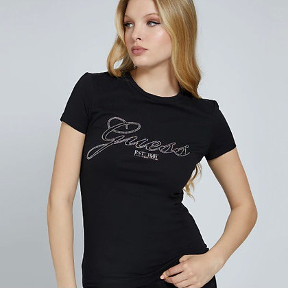 Guess Black Rhinestone T-shirt