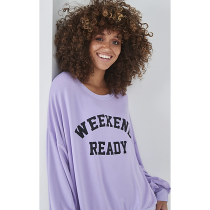 LB Lilac WEEKEND READY Sweater