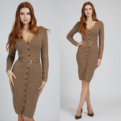 Guess Cardigan Belted Dress