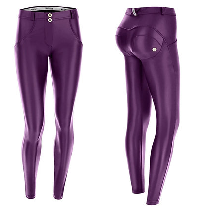 FREDDY Purple Leather Mid Waist