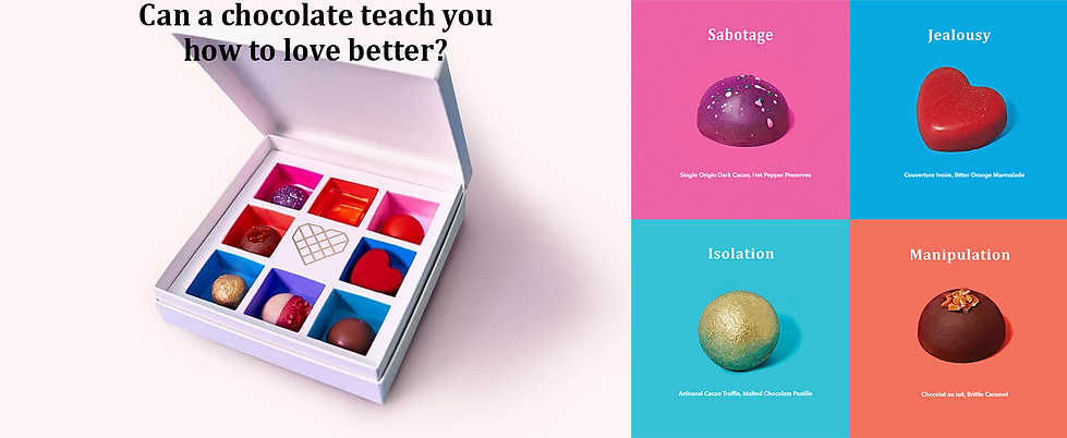 One Love Chocolates and box with text.pn