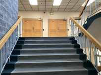 Step 3: Take the stair to upper level then turn right to see second stair