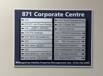 Office Name Board on Second floor