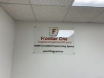 Banner of Frontier One hanging on the wall