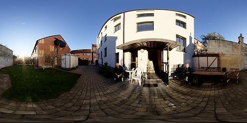 Arthurs apartment backyard