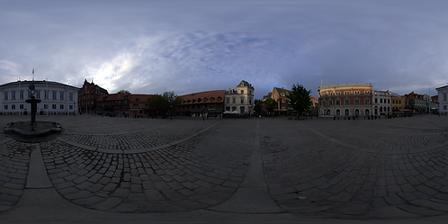 A town square