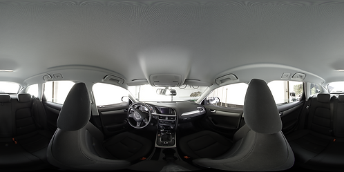 Inside an Audi A4