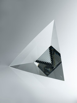 silver pyramide