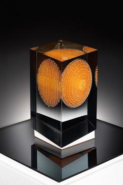 Wilfried Grootens Rombus 2 2013 18x15x22 cm Optifloat, painted, glued, polished