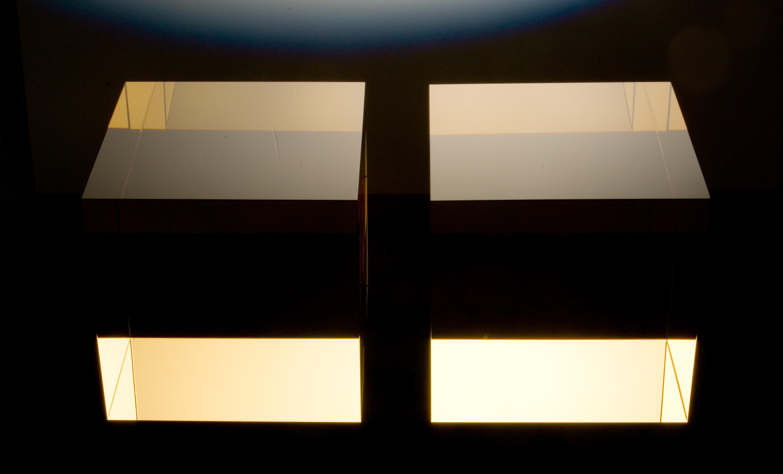 Stepan Pala,Cubes,2005,cast,cut,polished optical glass,each 26x26x26cm