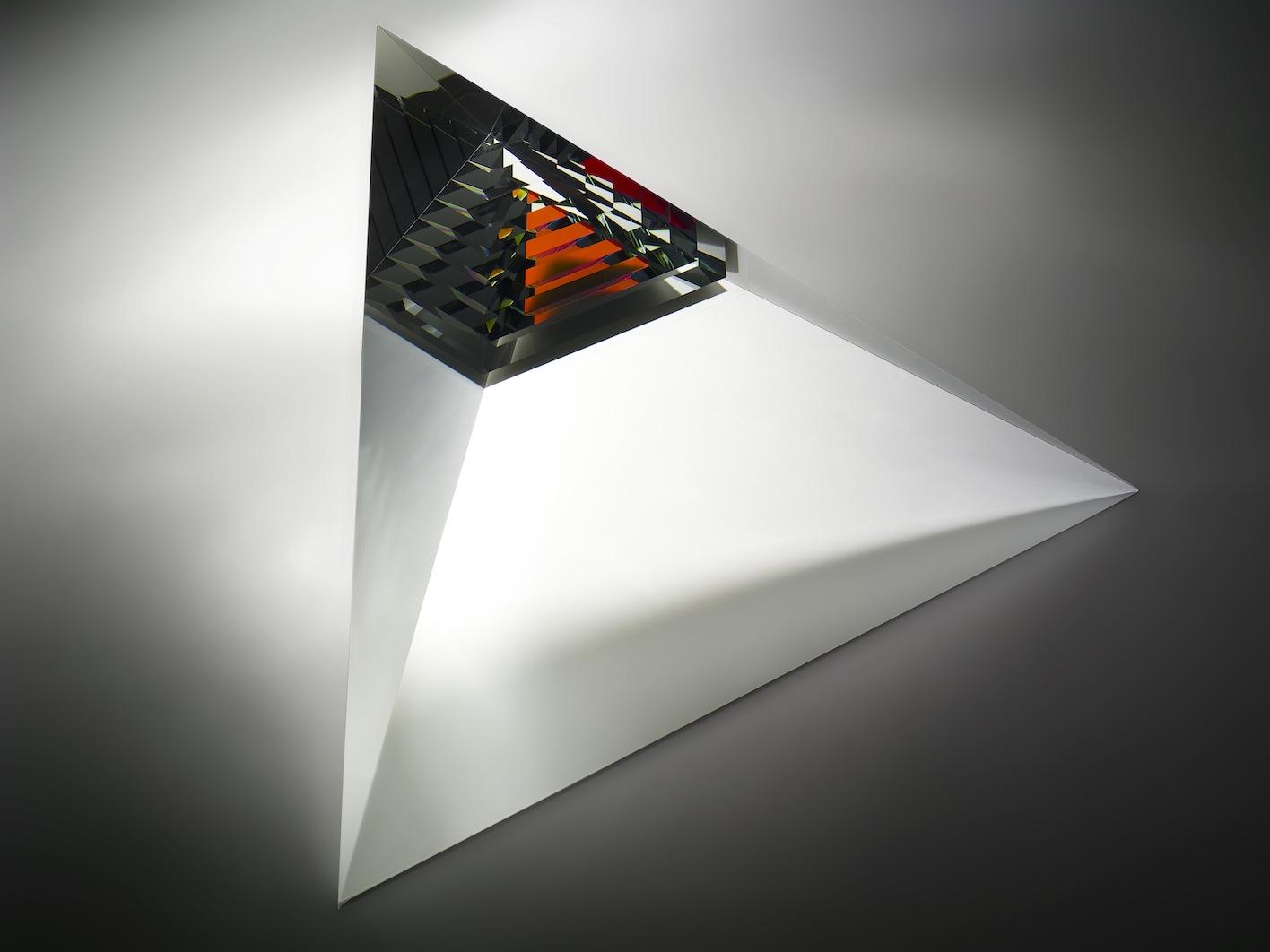 Red rainbow pyramid