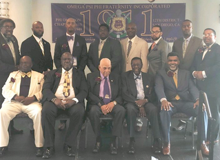 Omega's Phi Omicron Chapter Host 2nd Annual Celebrations of Fathers Breakfast