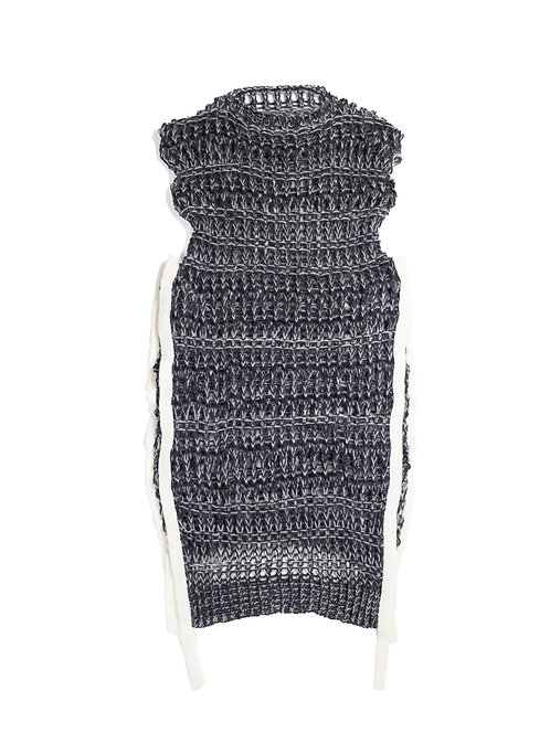 Low Gauge Knitted Dress - Charcoal