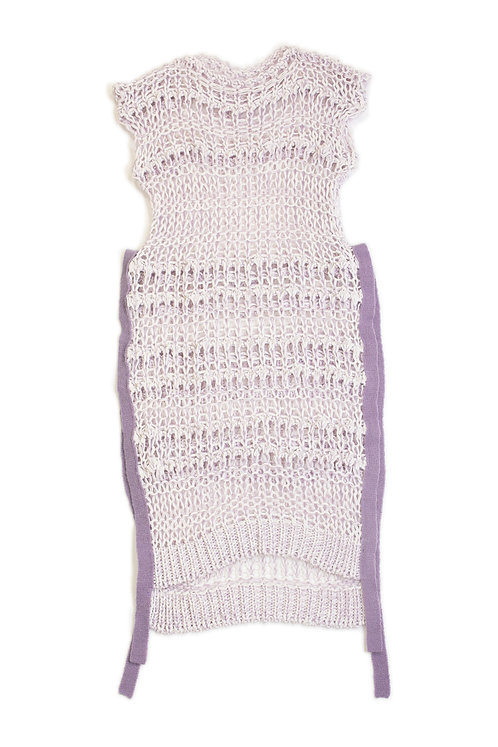 Low Gauge Knitted Dress - Lilac