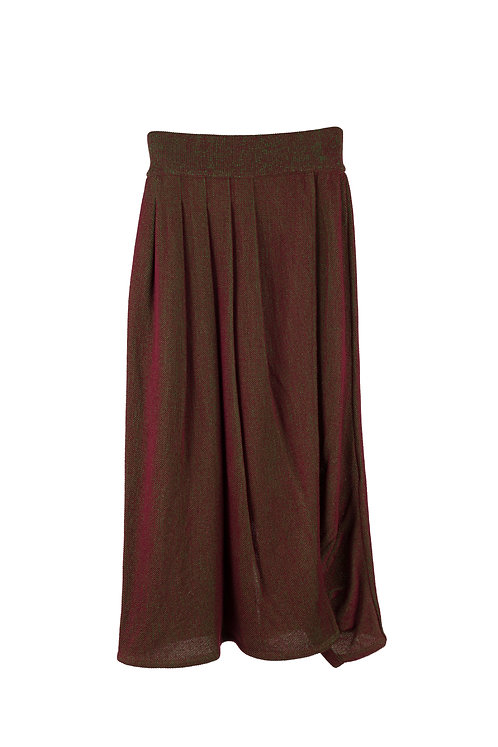 Glass Knitted Skirt - Brown