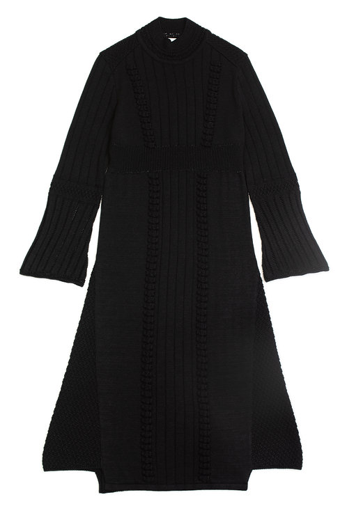 Bubble  Knitted Dress - Black