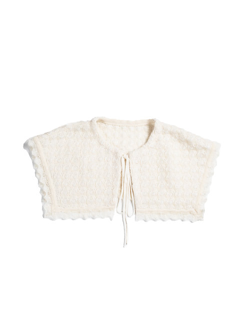 Inlay Knitted Collar - White