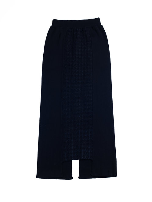 Inlay Knitted Skirt - Black