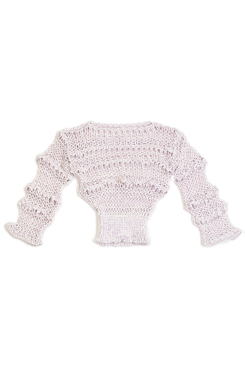 Low Gauge Knitted Top -Lilac