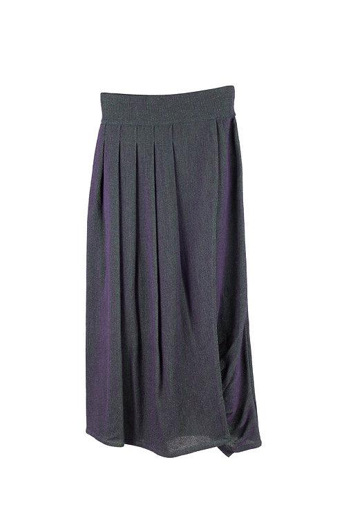 Glass Knitted Skirt -Violet