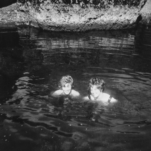 Bathing in the hot spring of Laugarás