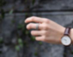 セメントリング リング 灰色 指輪 ファッション ジュエリー アクセサリー 表面 silver