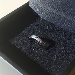タンタルリング 婚約指輪 黒いリング