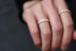 セメントリング リング 灰色 指輪 ファッション ジュエリー アクセサリー 表面 silver 白 ホワイト White  金色