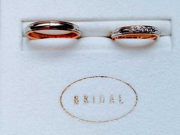 bridalの印字と結婚指輪