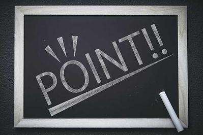 黒板に書かれたPOINT