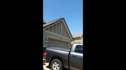 Truck in front of the house
