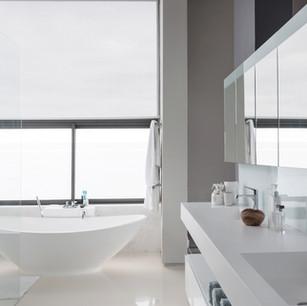 Clear & Spacious Bathrooms