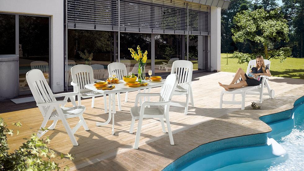 Cadeira C/ Braços Branca Comtesse 810 Sieger