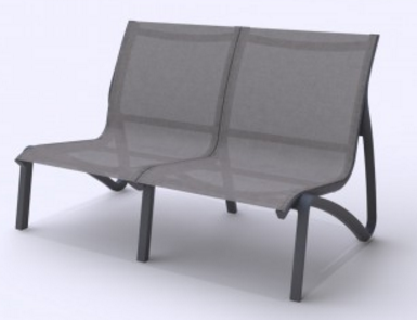 Poltrona 2 Lug S/ Braços SunSet Lounge Grosfillex