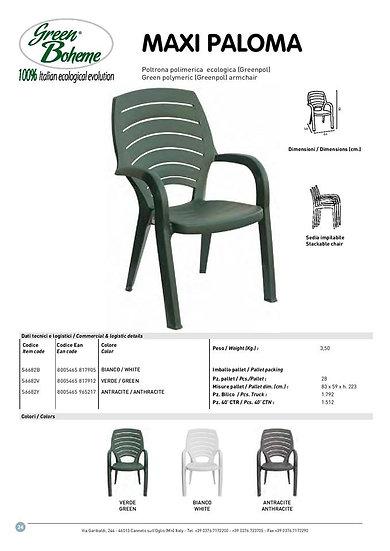 Cadeira C/ Braços MAXI PALOMA Grandsolei-Greenpool