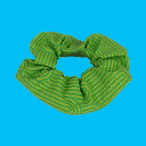 Green Arches Scrunchie
