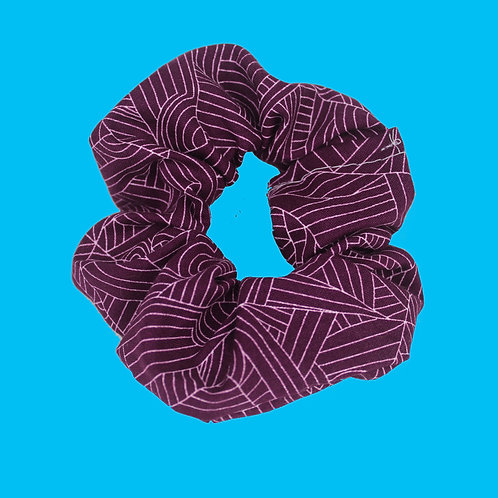 Deep Purple Scrunchie