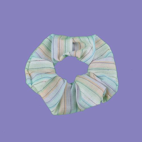 Rainbow Glitter Scrunchie