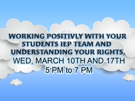 Join us as we learn about the IEP Process.