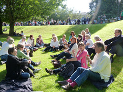 Relaxing, Saltaire Sing, Sept 2012