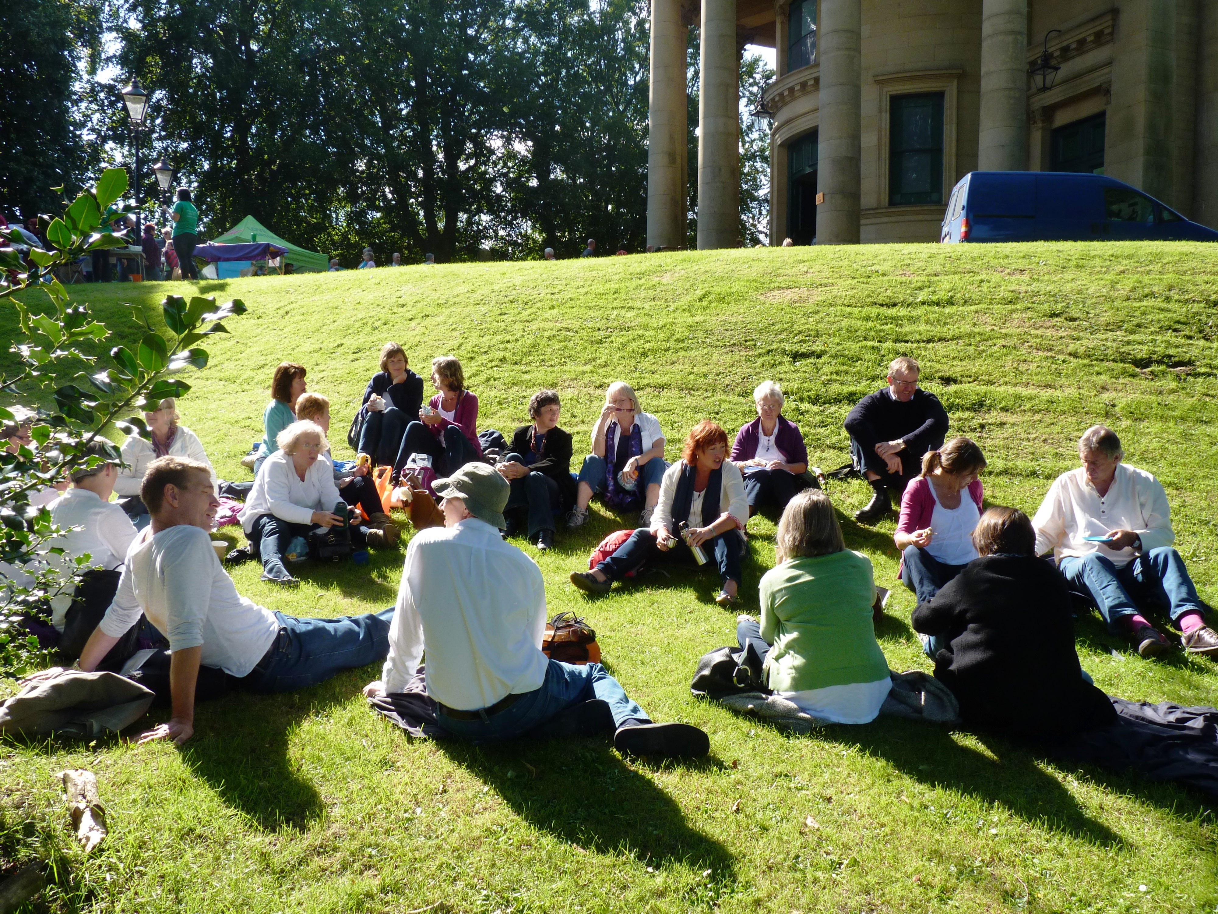 Relaxing, Saltaire Sing, September 2015