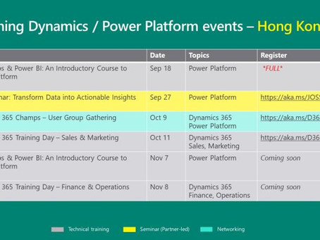 Up coming Dynamics and Power Platform event