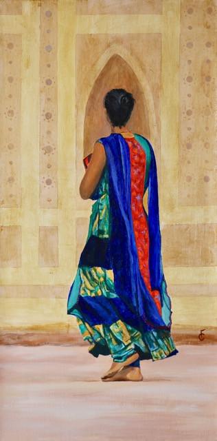 Indian Woman walking