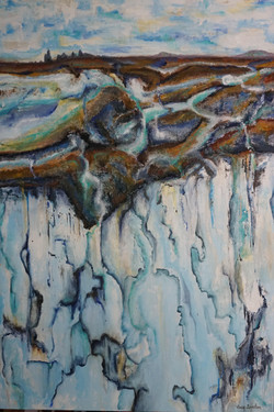 Water Ways-60x40 Mixed Media $1990